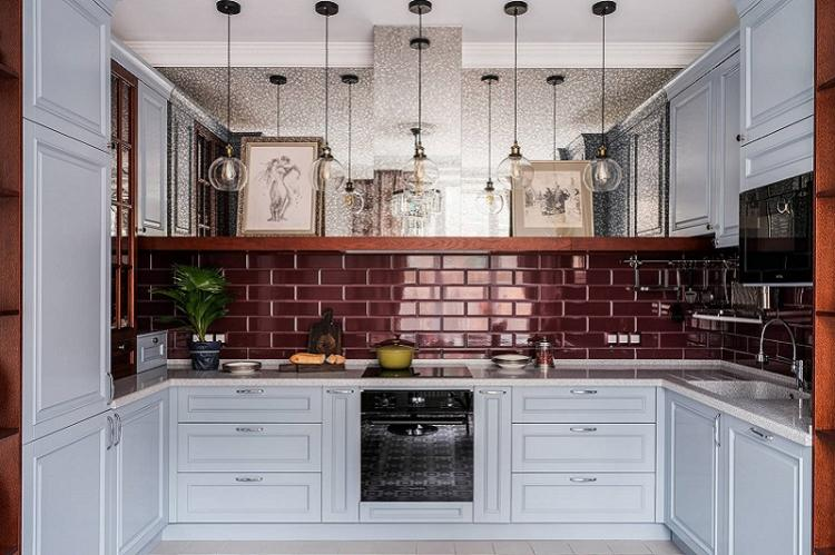 Дизайн интерьера кухни 9 кв.м. - фото реальных интерьеров