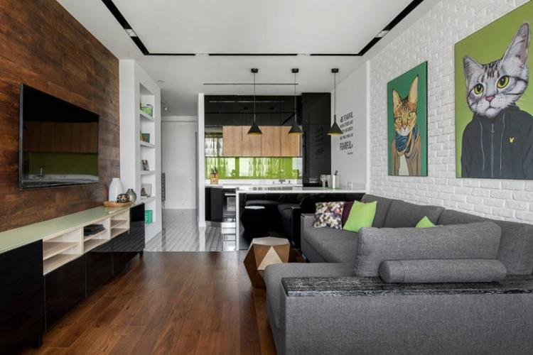 Выбор цвета - Дизайн кухни-гостиной