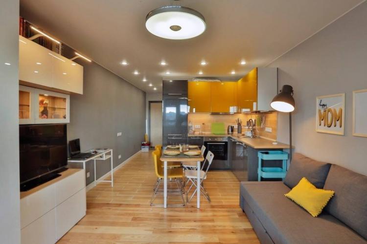 Дизайн кухни-гостиной - фото реальных интерьеров