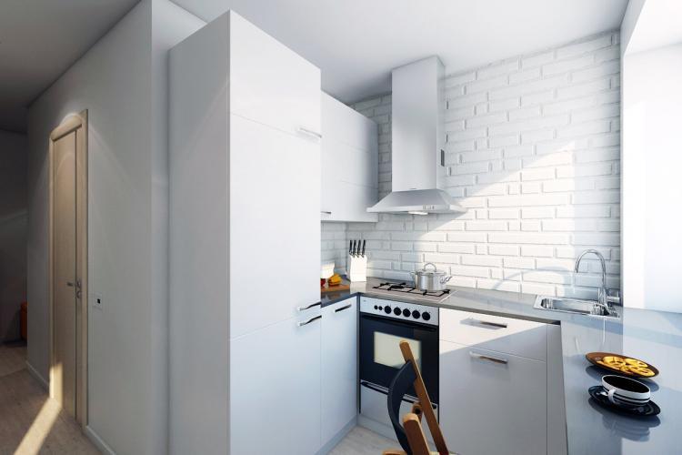 Отделка стен - Дизайн кухни в хрущевке