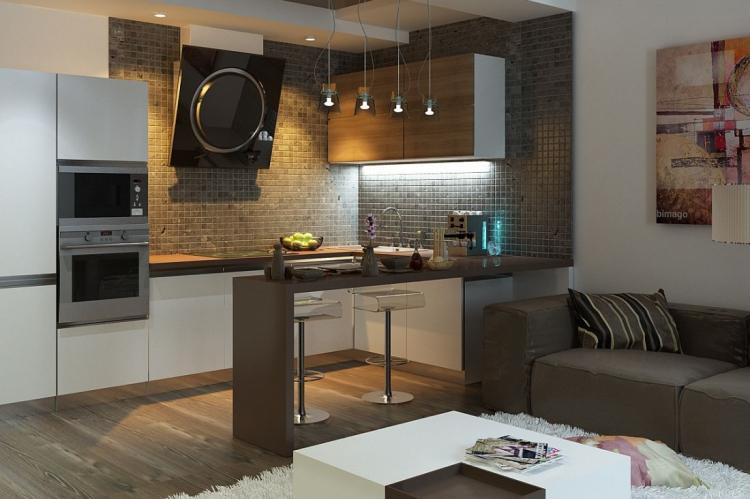 Объединение кухни с гостиной - Дизайн кухни в хрущевке