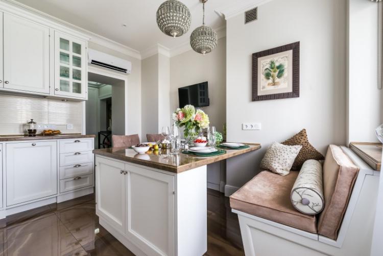 Белая кухня в классическом стиле - Дизайн интерьера