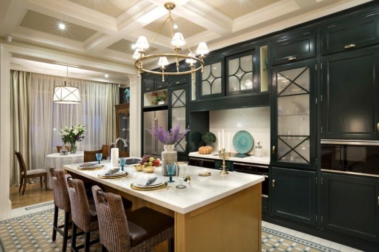 Освещение и подсветка - Дизайн кухни в классическом стиле