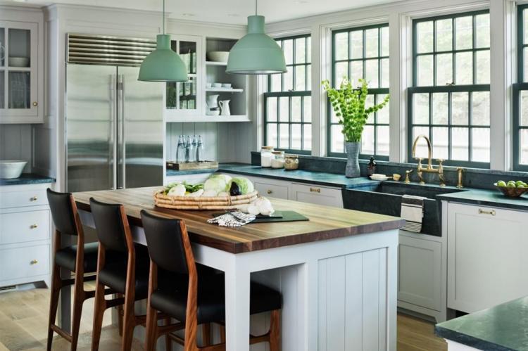 Зеленая кухня в скандинавском стиле - Дизайн интерьера