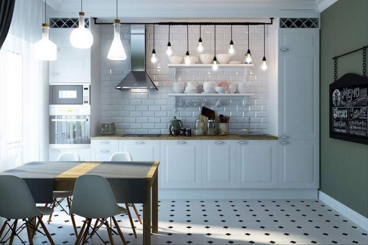 Дизайн интерьера кухни в скандинавском стиле - фото