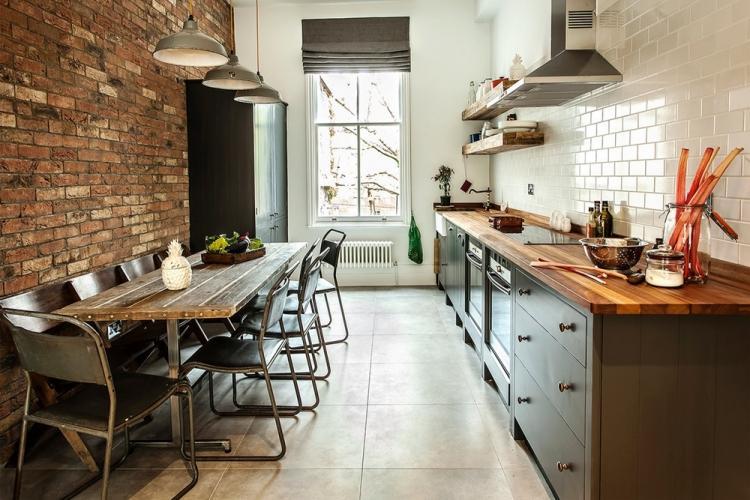 Дизайн кухни в стиле лофт: 80 свежих идей с фото