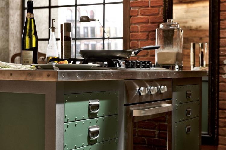 Мебель - Дизайн кухни в стиле лофт