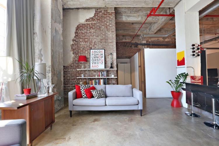 Отделка стен - Дизайн кухни в стиле лофт