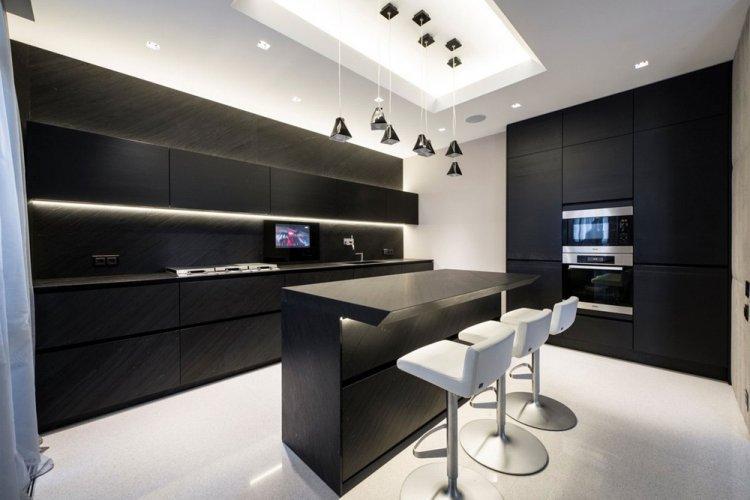 Освещение и подсветка - Дизайн кухни в стиле минимализм