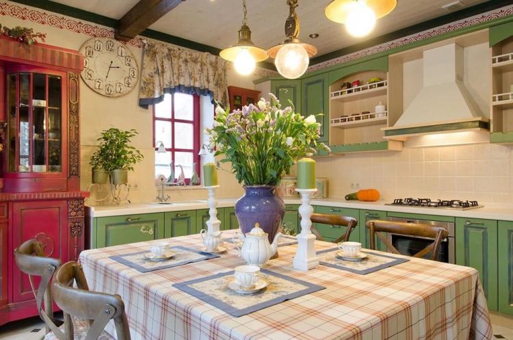 Особенности - Дизайн кухни в стиле прованс