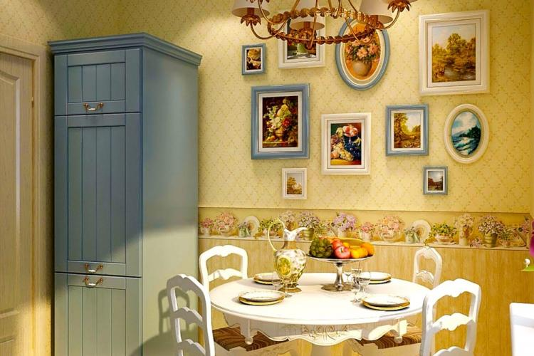 Отделка стен - Дизайн кухни в стиле прованс