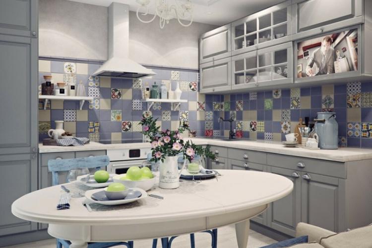 Фартук для кухни в стиле прованс