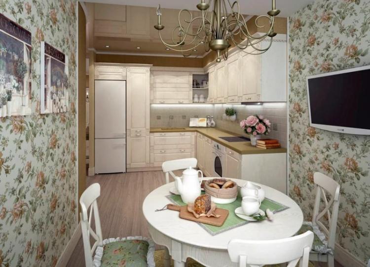 Дизайн угловой кухни в стиле прованс