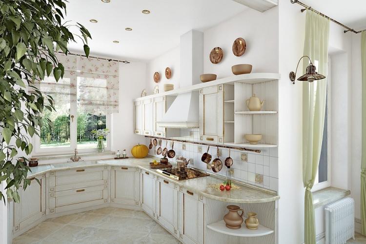 Дизайн кухни в стиле прованс - фото реальных интерьеров
