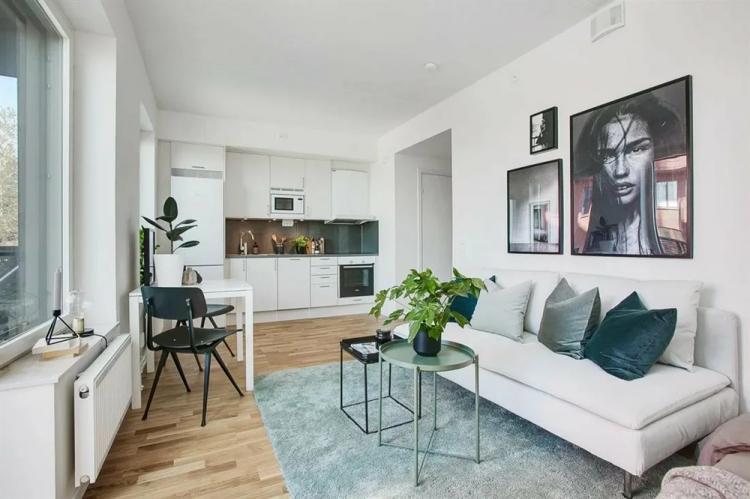 Отделка потолка - Дизайн квартиры 30 кв.м.