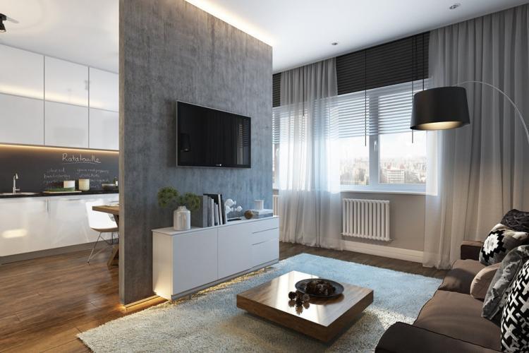Отделка пола - Дизайн квартиры 30 кв.м.