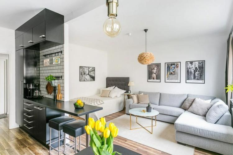 Цветовая гамма - Дизайн квартиры 30 кв.м.