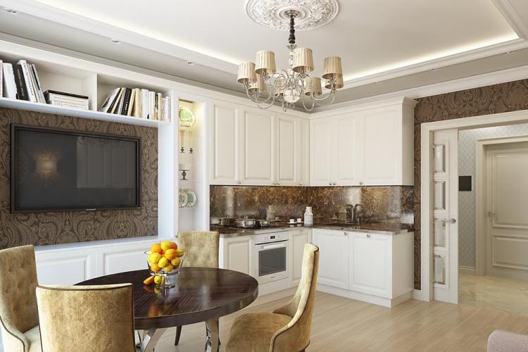 Квартира 30 кв.м. в классическом стиле - Дизайн интерьера