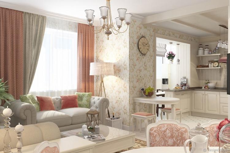 Квартира 30 кв.м. в стиле прованс - Дизайн интерьера