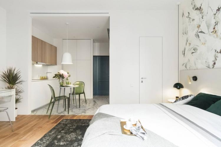 Квартира-студия в стиле минимализм - Дизайн интерьера
