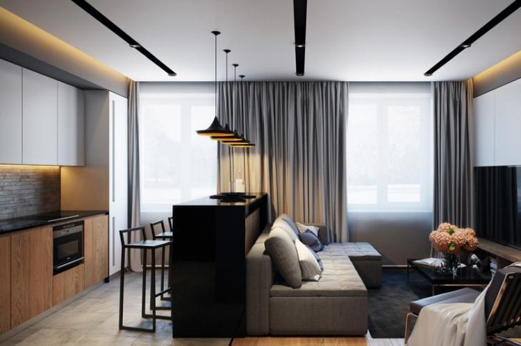 Квартира-студия в стиле хай-тек - Дизайн интерьера