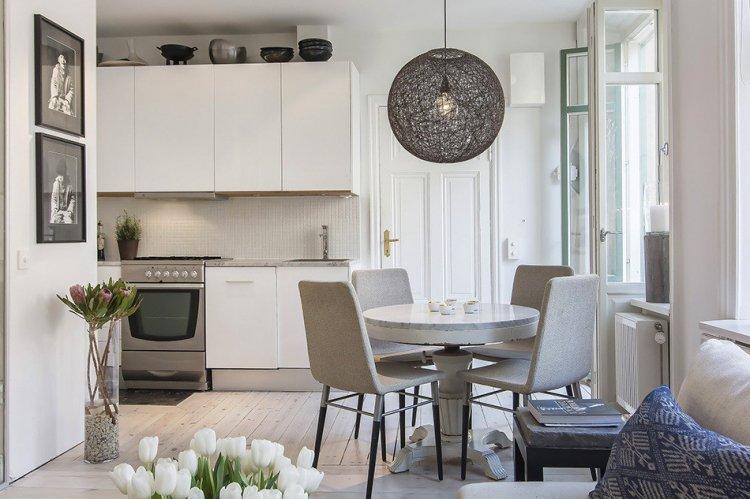 Классическая стокгольмская студия - Дизайн квартиры в скандинавском стиле