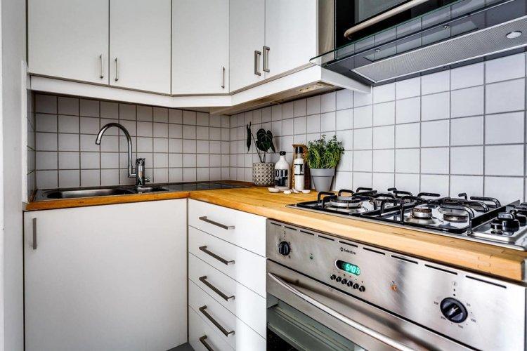 Акцент на пол - Дизайн квартиры в скандинавском стиле