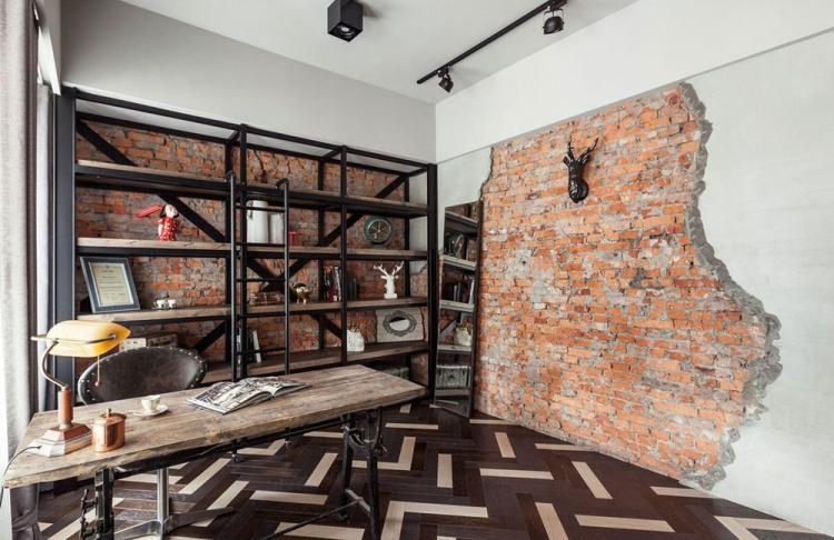 Отделка стен - Дизайн квартиры в стиле лофт