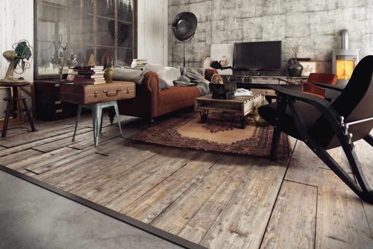 Отделка пола - Дизайн квартиры в стиле лофт