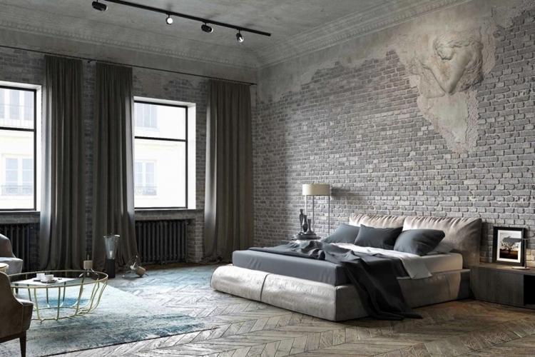 Серые тона - Цветовая гамма для дизайна квартиры в стиле лофт