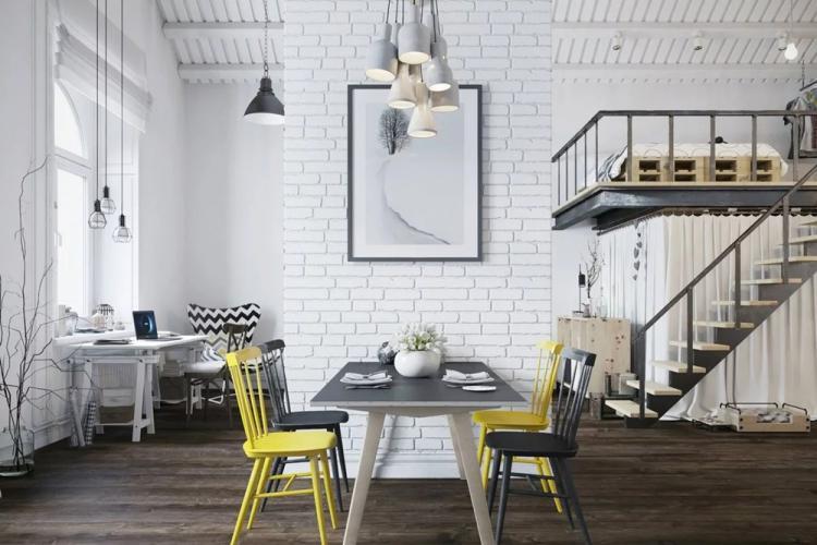 Белый цвет - Цветовая гамма для дизайна квартиры в стиле лофт