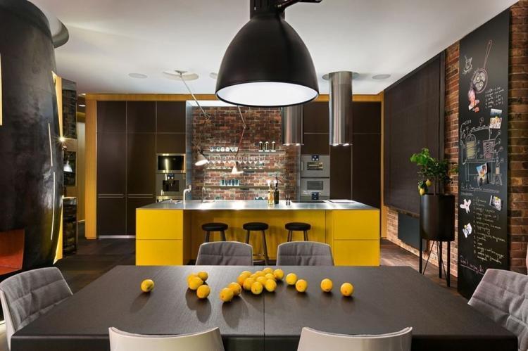 Желтый цвет - Цветовая гамма для дизайна квартиры в стиле лофт