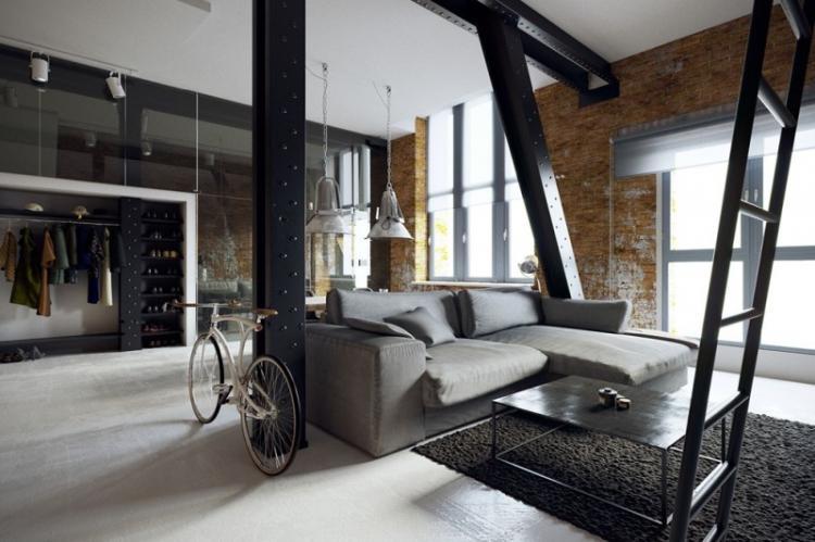 Планировка и зонирование - Дизайн квартиры в стиле лофт