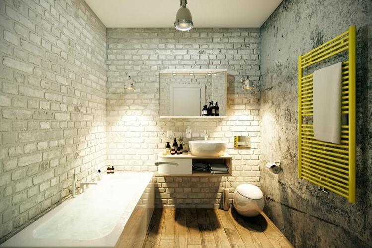 Ванная комната - Дизайн квартиры в стиле лофт