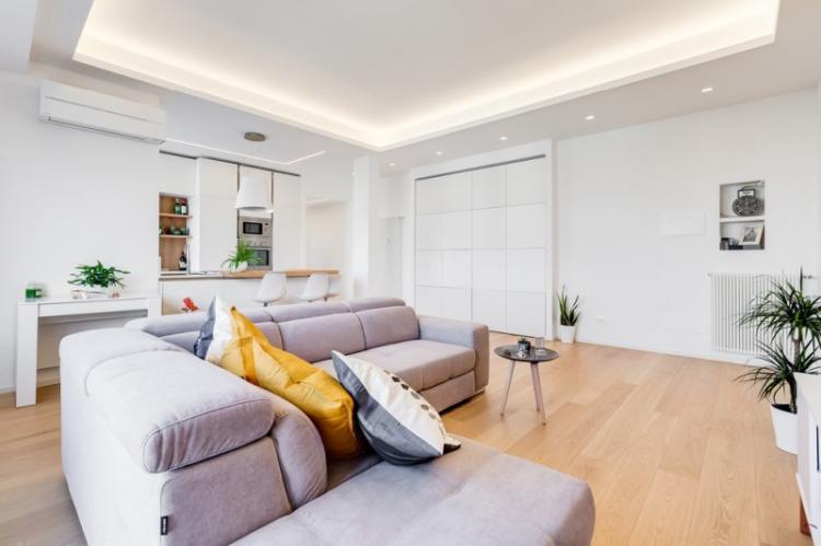 Отделка потолка - Квартира в стиле минимализм