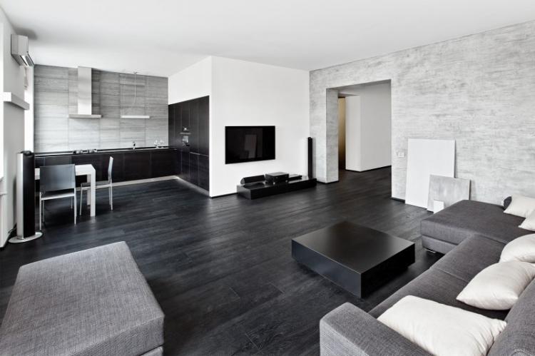 Черный цвет - Цветовая гамма для квартиры в стиле минимализм