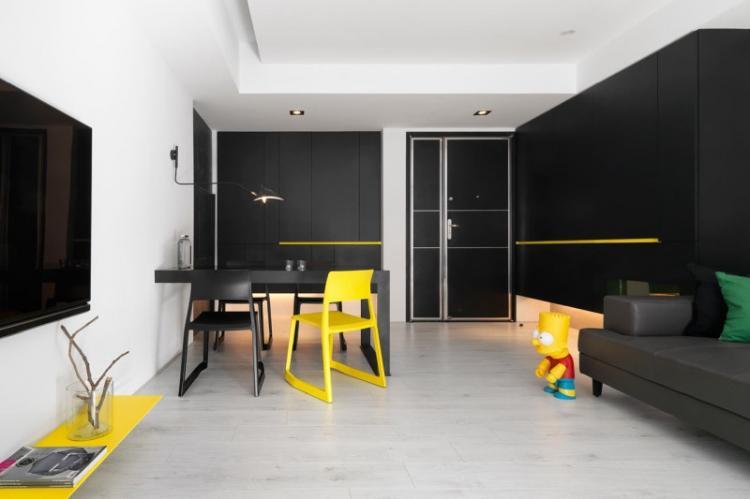 Яркие акценты - Цветовая гамма для квартиры в стиле минимализм