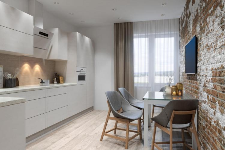 Кухня - Дизайн квартиры в стиле минимализм