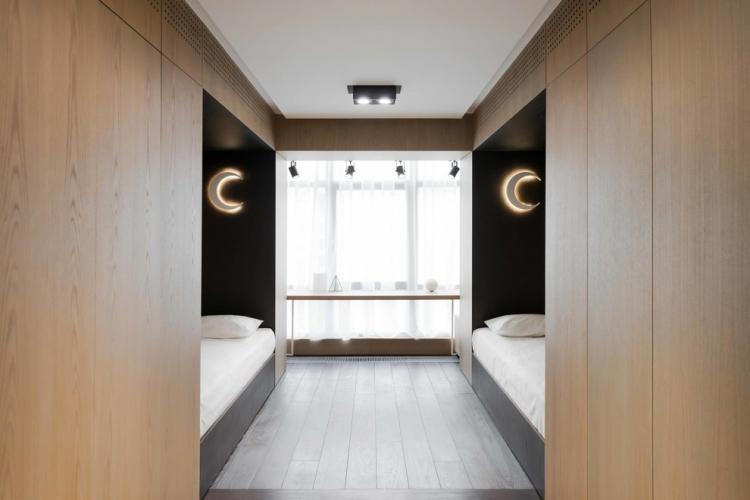 Детская комната - Дизайн квартиры в стиле минимализм
