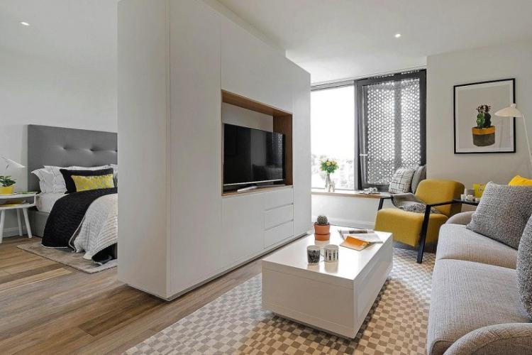Дизайн маленькой квартиры в стиле минимализм