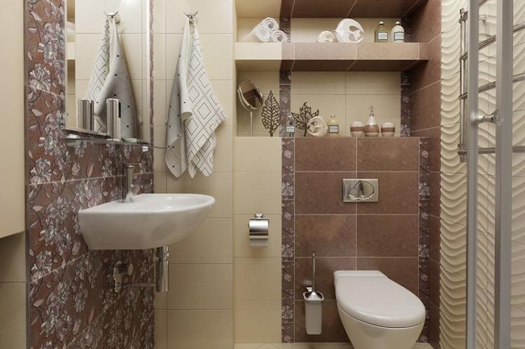 Перепланировка за счет коридора - Дизайн маленького туалета