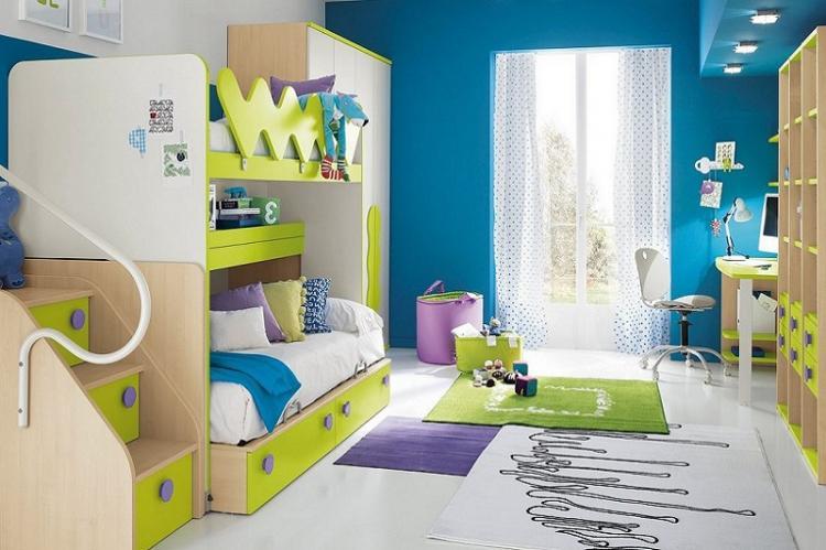 Предпочтение спокойным цветам - Дизайн маленькой детской