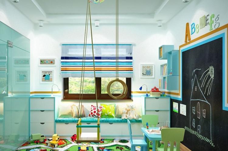 Делаем красивый потолок - Дизайн маленькой детской