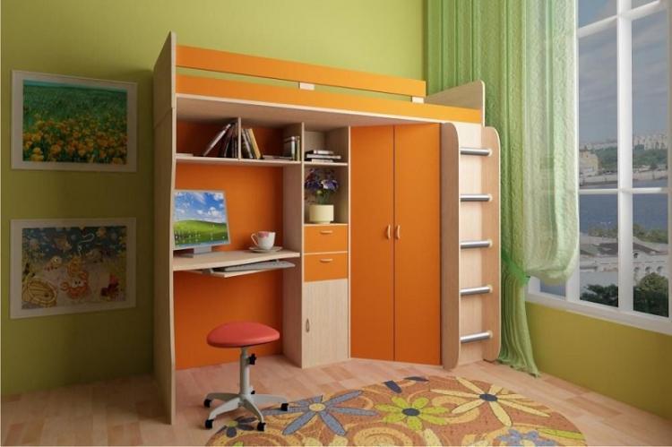Установи кровать-чердак - Дизайн маленькой детской