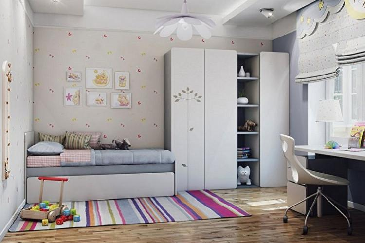 Дизайн маленькой детской комнаты – фото реальных интерьеров