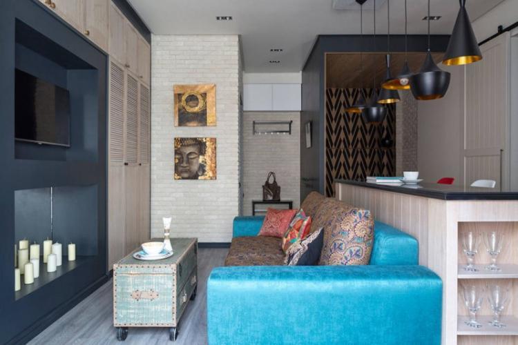 Перепланировка - Дизайн маленькой гостиной