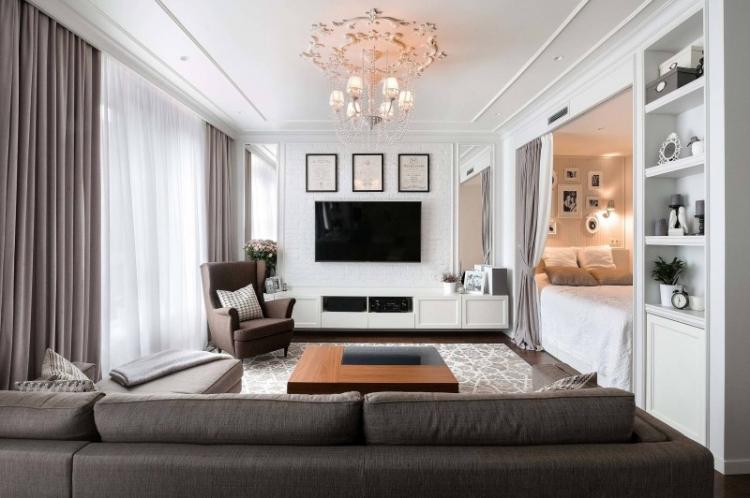 Используй светлые цвета - Дизайн маленькой гостиной