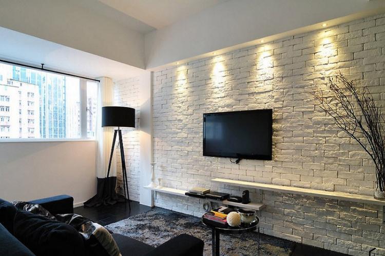 Секреты отделки стен - Дизайн маленькой гостиной
