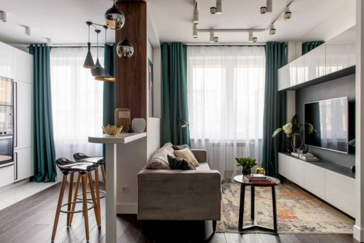 Раздели гостиную на зоны - Дизайн маленькой гостиной