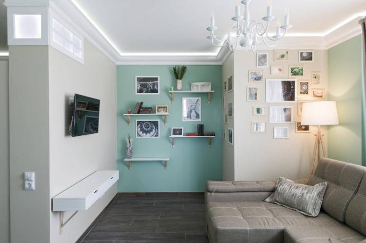 Правильное освещение - Дизайн маленькой гостиной